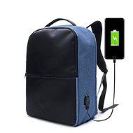 Ekphero lopásgátló hátizsák, kék - Laptophátizsák