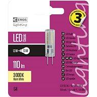 EMOS LED izzó Classic JC A++ 1.3W G4 meleg fehér - LED izzó