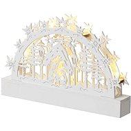 EMOS LED karácsonyi betlehem, 23 cm, 3 × AA, meleg fehér, időzítő - Karácsonyi fény