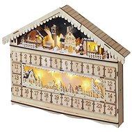 EMOS LED Adventi naptár, 19x40 cm, 2x AA, beltéri, meleg fehér