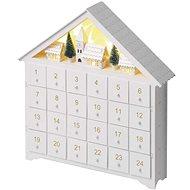 EMOS LED adventi naptár, 35x30 cm, 2x AA, beltéri, melegfehér - Karácsonyi fény