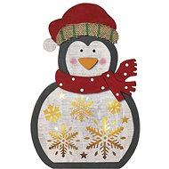EMOS LED Karácsonyi fa pingvin, 30 cm, 2× AAA, meleg fehér, időzítő - Karácsonyi fény