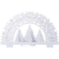 EMOS LED dekoráció - állvány fákkal, 2 x AA, meleg fehér, időzítő - Karácsonyi fények