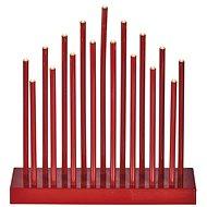 EMOS LED karácsonyi dekoráció - piros gyertyatartó, 3 × AA, meleg f., Időz.