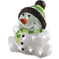 EMOS LED karácsonyi hóember, IP44, hidegfehér, időzítő - Karácsonyi fények