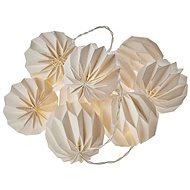 EMOS LED karácsonyfürtök - 10 × sárga papír. labda, 2 × AA, meleg fehér, idő. - Karácsonyi fények