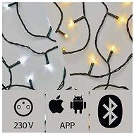Alkalmazással vezérelhető LED karácsonyi fényfüzér, 24m, kültéri, hideg/meleg fehér - Karácsonyi fény