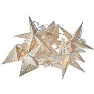 LED karácsonyi fényfüzér - csillagok, 2x AA, meleg fehér, időzítő - Karácsonyi fények