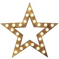 LED karácsonyi csillag, 37cm, 2x AA, beltéri, meleg fehér - Karácsonyi fények