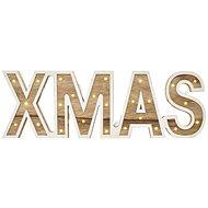 LED XMAS felirat, fa, 45cm, 2x AA, beltéri, meleg fehér - Karácsonyi fények