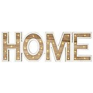 LED HOME felirat, fa, 45cm, 2x AA, beltéri, meleg fehér - Karácsonyi fények