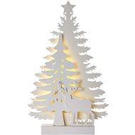 LED karácsonyfa, 23cm, 2x AA, beltéri, meleg fehér, időzítő