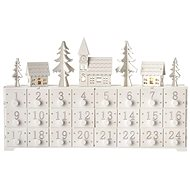 LED adventi naptár, 37x23cm, 2x AA, beltéri, meleg fehér - Karácsonyi fények