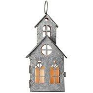 LED dekoráció - ősrégi ház, 3x AAA, villogó, meleg fehér - Karácsonyi fény