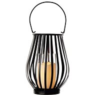 LED dekoráció - lámpás, függőleges rács, 3x AAA, villogó, meleg fehér - Karácsonyi fények