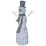 LED karácsonyi rattan hóember, 124cm, beltéri, hideg fehér, időzítő - Karácsonyi fények