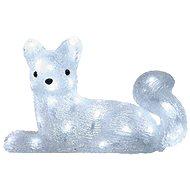 LED karácsonyi róka, 32cm, kültéri, hideg fehér, időzítő - Karácsonyi fények