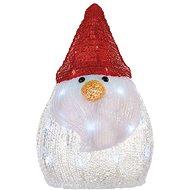 LED karácsonyi hóember, 30cm, AA, hideg fehér, időzítő - Karácsonyi fények