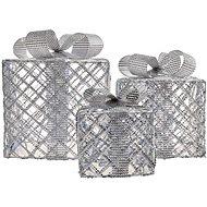 LED ajándékok, 3 méret, kültéri, hideg fehér, időzítő - Karácsonyi fények