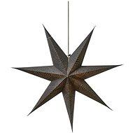 LED karácsonyi papír csillag, ezüst, 75cm, 2x AA, meleg fehér - Karácsonyi fények