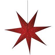 LED karácsonyi papír csillag, piros, 75cm, 2x AA, meleg fehér - Karácsonyi fények
