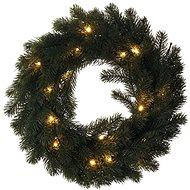 LED karácsonyi koszorú, 40cm, 2x AA, beltéri, meleg fehér - Karácsonyi fények