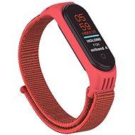 Epico nylon szíj, Xiaomi Mi Band 5 - piros - Szíj