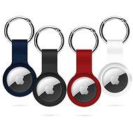 Epico AirTag szilikon 4 darabos csomag - fekete, fehér, kék, piros - Kulcstartó