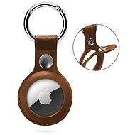 Epico AirTag bőr tok Epico logóval - barna - Kulcstartó