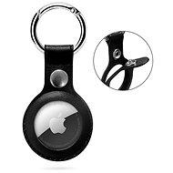 Epico AirTag bőr tok Epico logóval - fekete - Kulcstartó