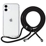 Epico Nake String Case iPhone 12 mini - fehér átlátszó / fekete - Mobiltelefon hátlap