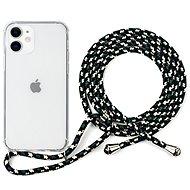 Epico Nake String Case iPhone 12 mini fehér átlátszó / fekete-fehér - Mobiltelefon hátlap