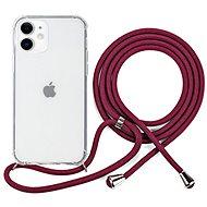 Epico Nake String Case iPhone 12 mini fehér átlátszó / piros - Mobiltelefon hátlap