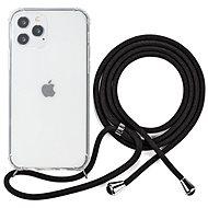 Epico Nake String Case iPhone 12 Pro Max - fehér átlátszó / fekete - Mobiltelefon hátlap