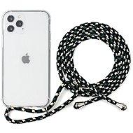 Epico Nake String Case iPhone 12 Pro Max fehér átlátszó / fekete-fehér - Mobiltelefon hátlap
