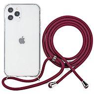 Epico Nake String Case iPhone 12 Pro Max fehér átlátszó / piros - Mobiltelefon hátlap