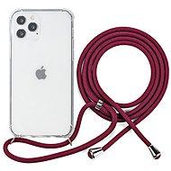 Epico Nake String Case iPhone 12/12 Pro fehér átlátszó / piros - Mobiltelefon hátlap