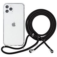 Epico Nake String Case iPhone 12/12 Pro fehér átlátszó / fekete - Mobiltelefon hátlap