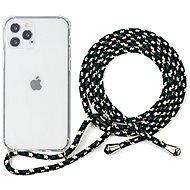 Epico Nake String Case iPhone 12/12 Pro fehér átlátszó / fekete-fehér - Mobiltelefon hátlap