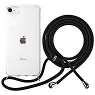 Epico Nake String Case iPhone 7/8/SE - fehér átlátszó / fekete - Mobiltelefon hátlap