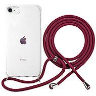 Epico Nake String Case iPhone 7/8/SE - fehér átlátszó / piros - Mobiltelefon hátlap