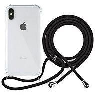 Epico Nake String Case iPhone X/XS - fehér átlátszó / fekete - Mobiltelefon hátlap