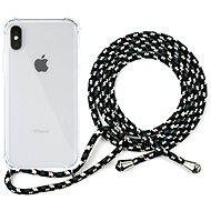 Epico Nake String Case iPhone X / XS - fehér átlátszó / fekete-fehér