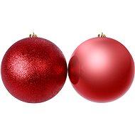 Piros gömb 2 db-os készlet - Karácsonyi díszítés