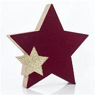 Fából készült asztali csillag, 15x2x15 cm - Karácsonyi díszítés