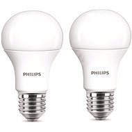 Philips LED 9-60W E27, 2700K, tejüveg, 2db - LED izzó