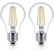 Philips LED Classic Filament Retro 6-60W, E27, 2700K, víztiszta, 2 db-os szett - LED izzó