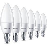 Philips LED izzó 5.5-40W, E14, 2700K, matt, 6 db-os szett - LED izzó