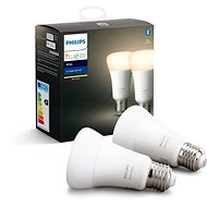 Philips Hue White 9W E27 szett 2 db - LED izzó