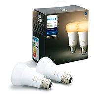 Philips Hue White Ambiance 8.5W A60 set 2 db - LED izzó